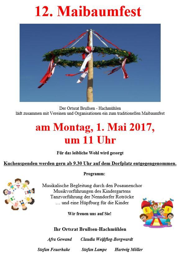 Maibaumfest @ Dorfplatz Hachmühlen   Bad Münder am Deister   Niedersachsen   Deutschland