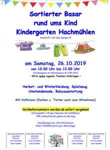 Basar rund um´s Kind im KiGa Hachmühlen @ in der ehemaligen Schule in Hachmühlen