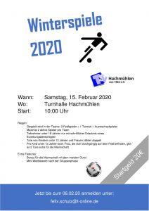 Fußball-Winterspiele des TSV-Hachmühlen @ Sporthalle Hachmühlen